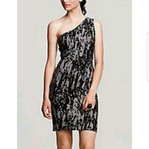 BCBG MaxAzria black/gray form fitting dress - Sz L